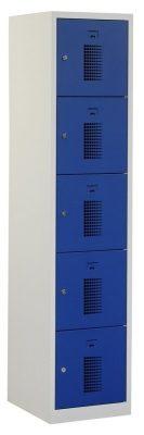 Premium locker 40cm breed, 1-koloms, 5-deurs