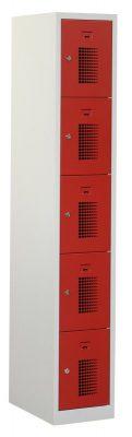 Premium locker 30cm breed, 1-koloms, 5-deurs