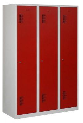 Premium garderobekast 120cm breed, 3-koloms, 3-deurs