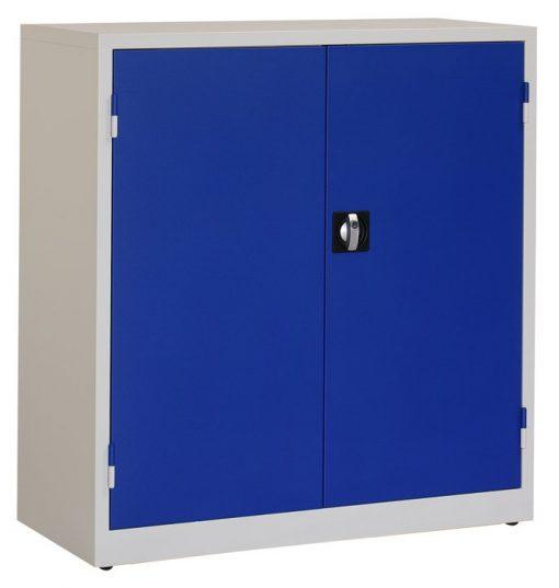 Werkplaatskast 106x100x45cm. blauw/grijs