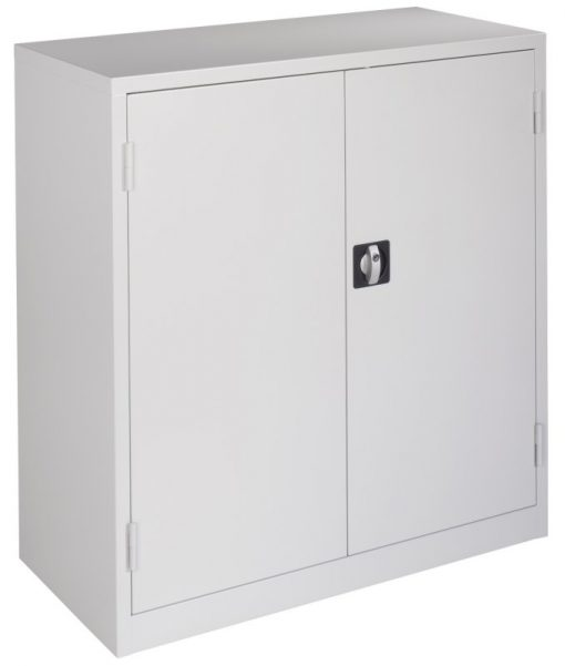 Werkplaatskast 106x100x45cm. lichtgrijs