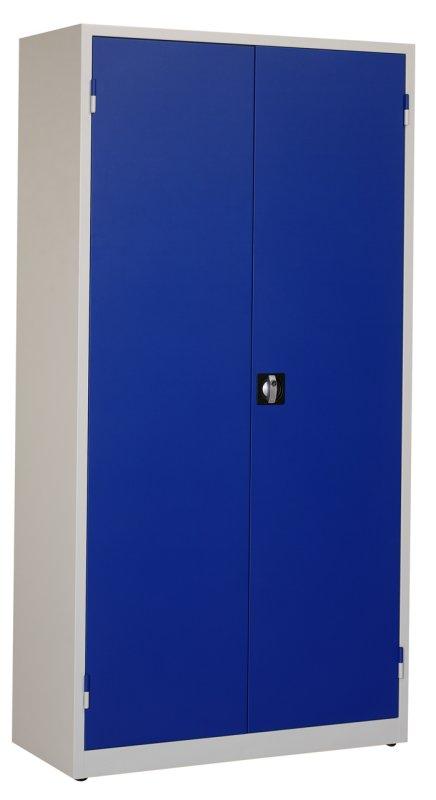 Werkplaatskast 195x100x45cm. blauw/grijs