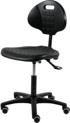 Werkstoel TEZ160 zwart