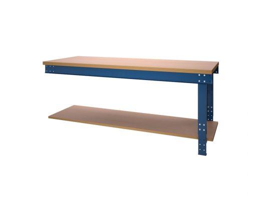Werktafel BL serie met liggers en onderlegbord aanbouw