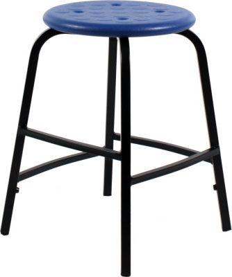 Krukje TAP50 zwart met blauwe PU zitting