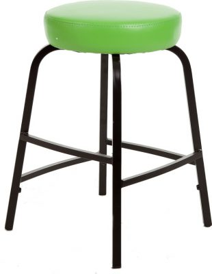 Krukje TAS55 zwart met groene kunstlederen zitting