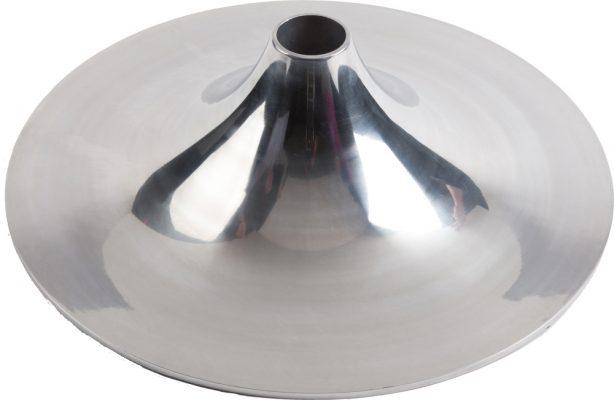Trompetvoet aluminium gepolijst