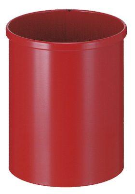 Metalen afvalbak 15 liter rood