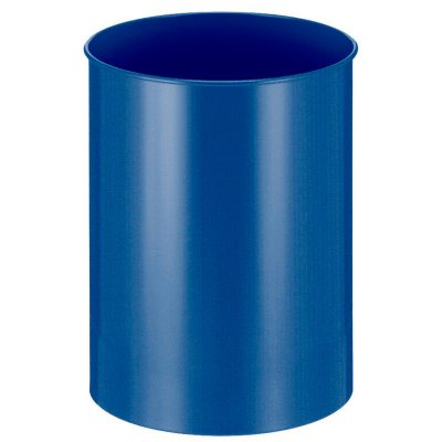 Metalen afvalbak 30 liter blauw