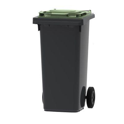 mini-container 120 liter kleur grijs/groen