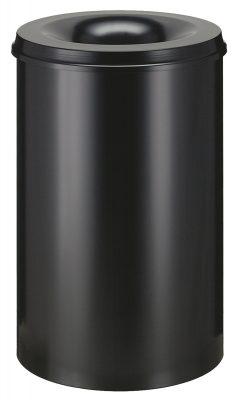 Vlamdovende afvalbak 110 liter zwart
