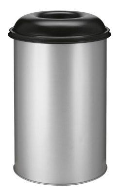 Vlamdovende afvalbak 200 liter aluminium/zwart