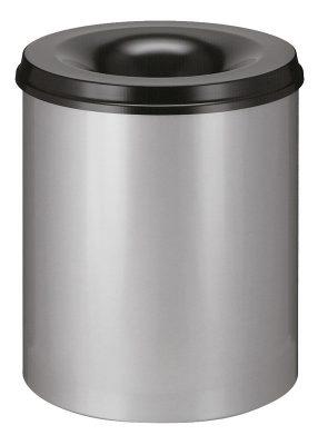 Vlamdovende afvalbak 80 liter aluminium/zwart